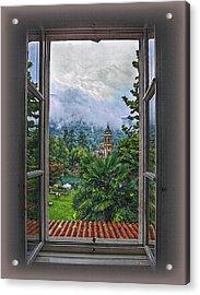 Vision Through The Window Acrylic Print by Hanny Heim