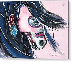 Vision - War Horse Art By Valentina Miletic Acrylic Print by Valentina Miletic
