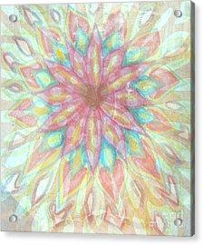 Visionary Crown Chakra Acrylic Print by Sacred  Muse