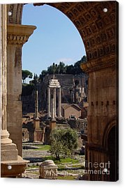 Acrylic Print featuring the photograph Visions Of Rome by Nancy Bradley