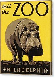 Visit The Philadelphia Zoo Acrylic Print by Bill Cannon