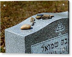 Visitation Stones On Jewish Grave Acrylic Print