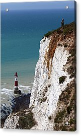 Visiting Beachy Head Acrylic Print by James Brunker