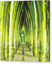 Visiting Emerald City Acrylic Print by Mo T
