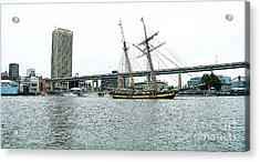 Visiting Ship Acrylic Print by Kathleen Struckle