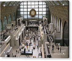 Visiting The Musee D'orsay Acrylic Print by Ann Horn