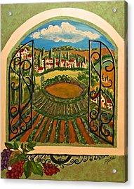 Vista Dalla Campagna Toscana Acrylic Print by Dina Jacobs