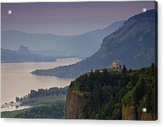 Vista House And The Gorge Acrylic Print by Andrew Soundarajan