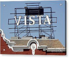 Vista - Los Angeles Acrylic Print by Gregory Dyer