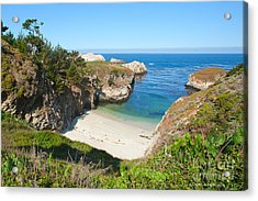 Vista Of China Cove At Point Lobos State Reserve California Acrylic Print by Artist and Photographer Laura Wrede