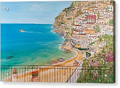 Vista Su Positano Acrylic Print