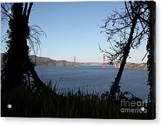 Vista To The San Francisco Golden Gate Bridge - 5d20983 Acrylic Print by Wingsdomain Art and Photography