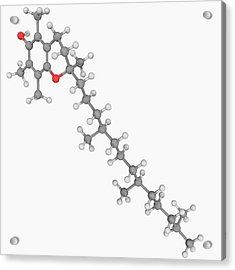 Vitamin E Molecule Acrylic Print by Laguna Design