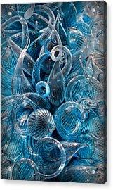 Vitreous Azure Abstract Acrylic Print