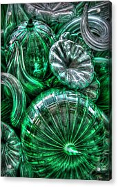 Vitreous Verdant Abstract Acrylic Print