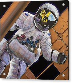 Vitruvian Man- Alan Bean.  Acrylic Print by Simon Kregar