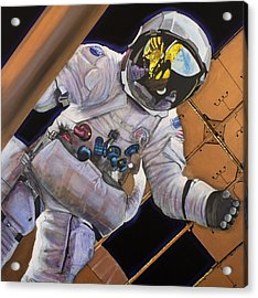 Vitruvian Man- Alan Bean.  Acrylic Print