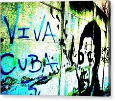 Viva Cuba Street Art Acrylic Print