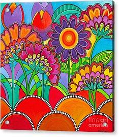 Viva La Spring Acrylic Print by Carla Bank