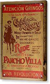 Viva Revolucion - Pancho Villa Acrylic Print by Richard Reeve