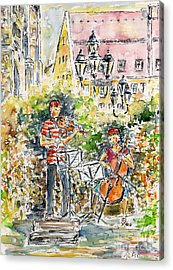 Vivaldi In The Shade Of Saint Laurence Church Nuremberg Acrylic Print