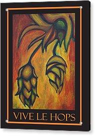 Vive Le Hops In Black Acrylic Print by Alexandra Ortiz de Fargher