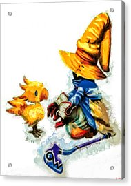 Vivi And The Chocobo Acrylic Print