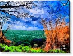 Vivid Landscape Acrylic Print by George Paris