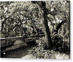 Vizcaya Garden Courtyard Acrylic Print