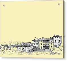 Vizcaya In Cream  Acrylic Print