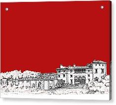 Vizcaya In Red Acrylic Print