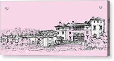 Vizcaya Museum And Gardens Baby Pink Acrylic Print