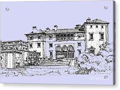Vizcaya Museum And Gardens Powder Blue Acrylic Print
