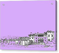 Vizcaya Museum In Lilac Acrylic Print by Building  Art