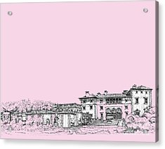 Vizcaya Museum In Pink Acrylic Print