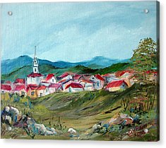 Vladeni Ardeal - Village In Transylvania Acrylic Print by Dorothy Maier