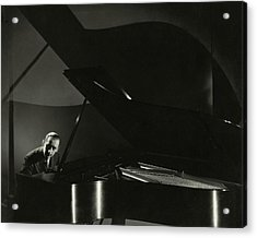 Vladimir Horowitz At A Grand Piano Acrylic Print