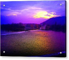 Vltava River Prague Sunset Acrylic Print