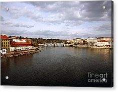 Vltava River View Acrylic Print by John Rizzuto