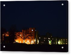 Acrylic Print featuring the photograph Vmi Night Lights by Cathy Shiflett
