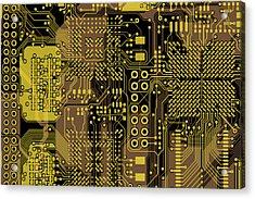 Vo96 Circuit 5 Acrylic Print by Paul Vo