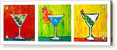 Vodka Martini Collection Bar Decor - Modern Art Acrylic Print