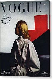 Vogue Cover Featuring A Model Wearing A White Acrylic Print
