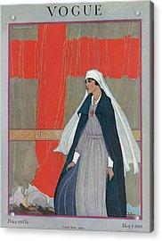 Vogue Cover Featuring A Nurse Acrylic Print
