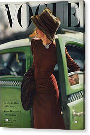 Vogue Cover Featuring A Woman Getting Acrylic Print by Constantin Joffe