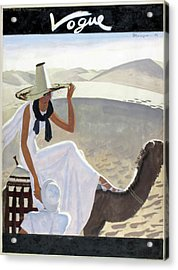 Vogue Cover Featuring A Woman Riding A Camel Acrylic Print