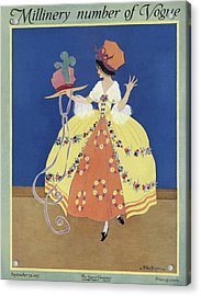 Vogue Cover Featuring An Eighteenth Century Woman Acrylic Print