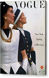 Vogue Cover Featuring Jean Sinclair Acrylic Print by John Rawlings
