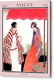 Vogue Cover Featuring Two Women Under A Patio Acrylic Print