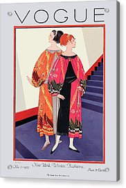 Vogue Cover Featuring Two Women With Colorful Acrylic Print
